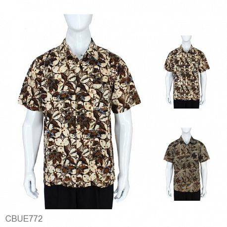 Baju Batik Kemeja Sogan