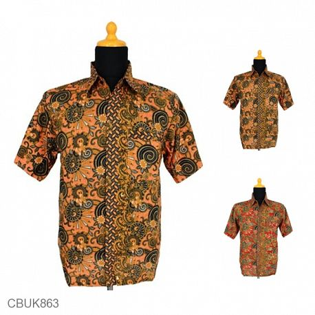 Baju Batik Kemeja Katun Motif Spiral