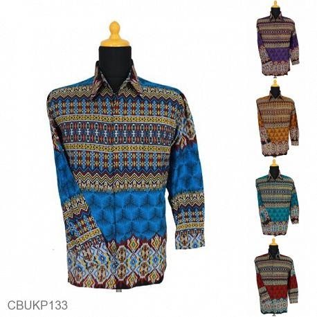 Baju Batik Kemeja Panjang Motif Rangrang