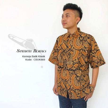 Baju Batik Kemeja Pendek Motif Semen Romo