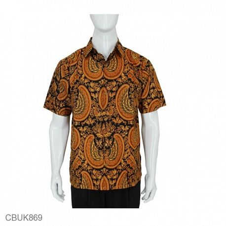 Baju Batik Kemeja Pendek Motif Gurdo