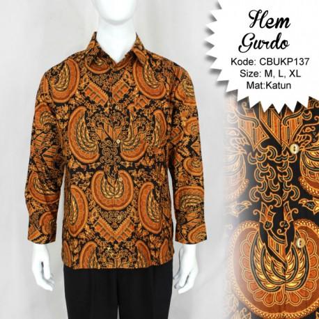 Baju Batik Kemeja Panjang Motif Gurdo