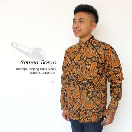 Baju Batik Kemeja Panjang Motif Semen Romo