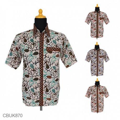 Baju Batik Kemeja Pendek Cumi Tumpal
