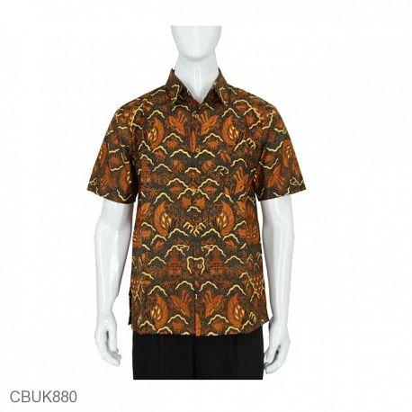 Baju Batik Kemeja Pendek Motif Sayap