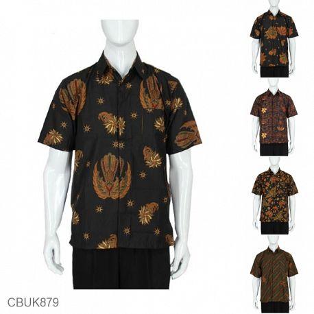Baju Batik Kemeja Pendek Motif Klasik