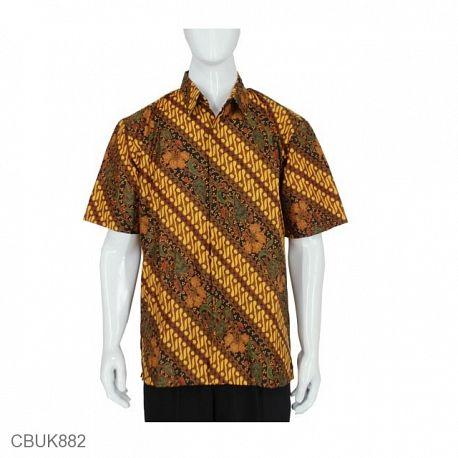 Baju Batik Kemeja Pendek Motif Parang Mataraman