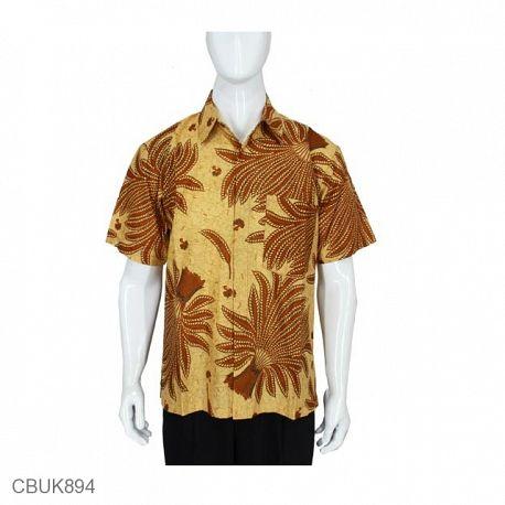 Baju Batik Kemeja Pendek Motif Pari
