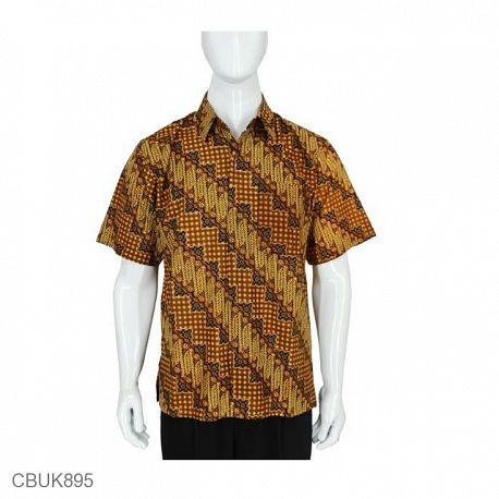 Baju Batik Kemeja Pendek Motif Parang