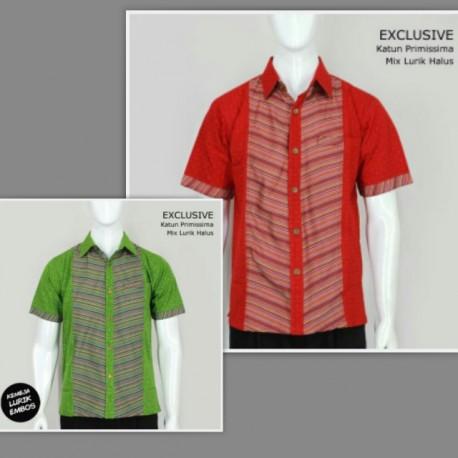Baju Batik Kemeja Katun Lurik
