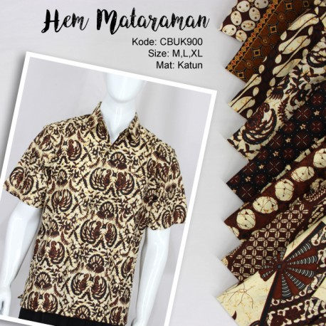 Baju Batik Kemeja Motif Mataraman