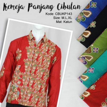 Baju Batik Kemeja Panjang Katun Cibulan Batu