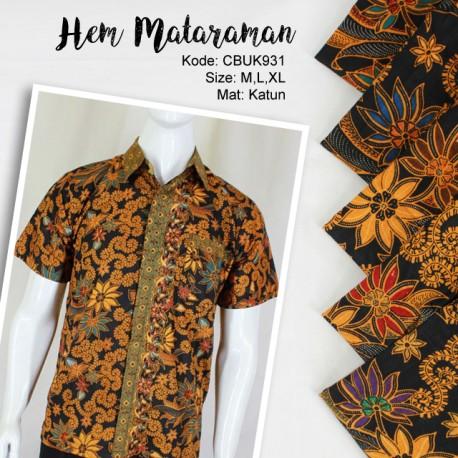 Baju Batik Kemeja Motif Mataraman Bunga