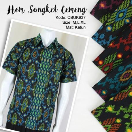 Baju Batik Kemeja Motif Songket Cemeng