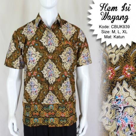 Baju Batik Kemeja Motif Isi Wayang