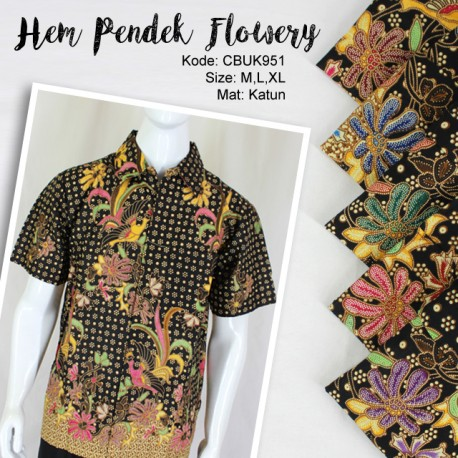 Baju Batik Kemeja Flowery