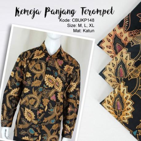 Baju Batik Kemeja Panjang Motif Terompet