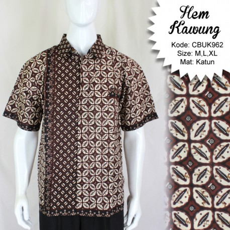 Baju Batik Kemeja Pendek Kawung
