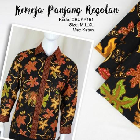 Baju Batik Kemeja Panjang Motif Regolan