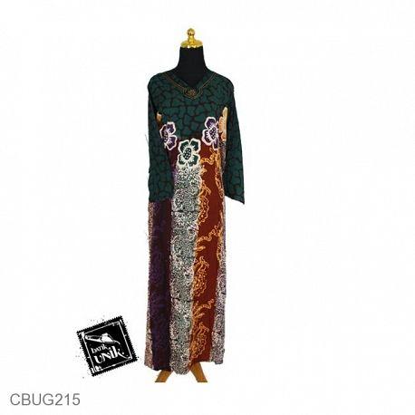 Baju Batik Longdress Motif Kembang Batu