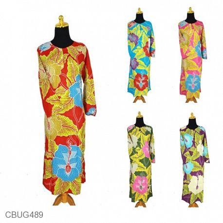 Baju Batik Longdress Motif Bunga