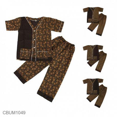 Baju Batik Piyama Anak Motif Capocino
