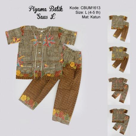 Baju Batik Piyama Anak Motif Salur L