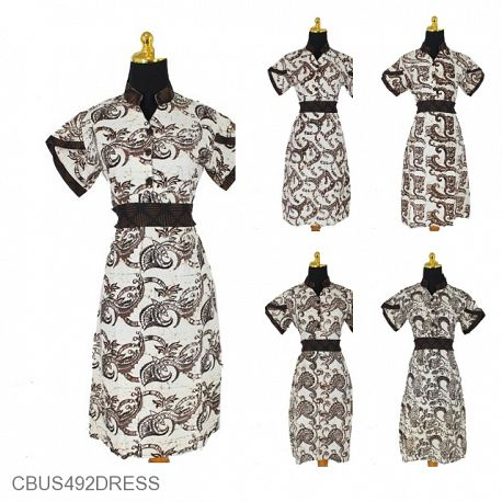 Baju Batik Sarimbit Dress Motif Semen Conil Tumpal