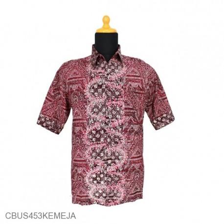 Baju Batik Sarimbit Kemeja Motif Daun Sisik Alas