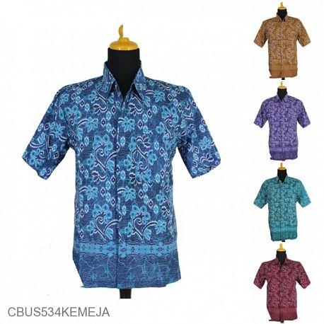 Baju Batik Sarimbit Kemeja Motif Anyam Kembang