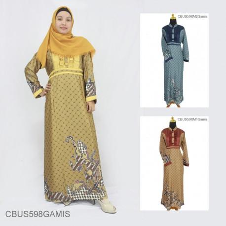 Baju Batik Sarimbit Gamis Semi Sutra Motif Jagad Truntum