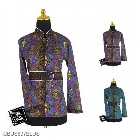 Baju Batik Sarimbit Blus Katun Motif Godhong Warna Alas