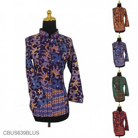 Baju Batik Sarimbit Blus Motif Songket Klasik