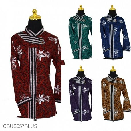 Baju Batik Sarimbit Blus Katun Motif Krokot Klopo Tumpal