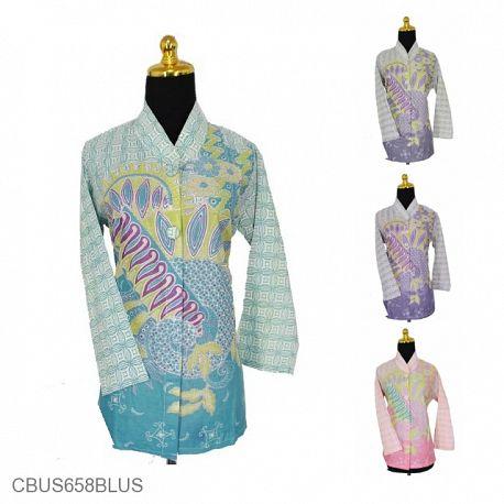 Baju Batik Sarimbit Blus Pekalongan Motif Kawung Srengenge