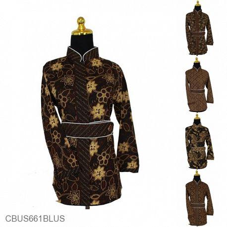Baju Batik Sarimbit Blus Motif Capocino Tumpal