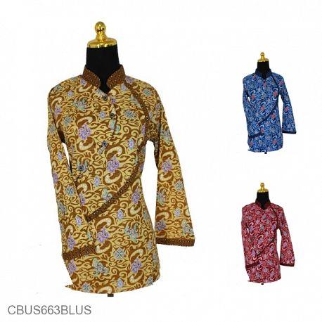 Baju Batik Sarimbit Blus Motif Mego Alas