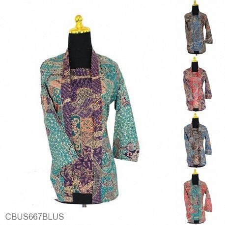 Baju Batik Sarimbit Blus Katun Motif Winih Jagad