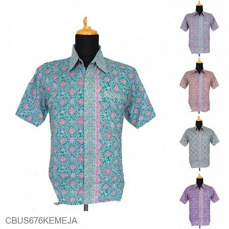 Baju Batik Sarimbit Kemeja Motif Kawung Kecer
