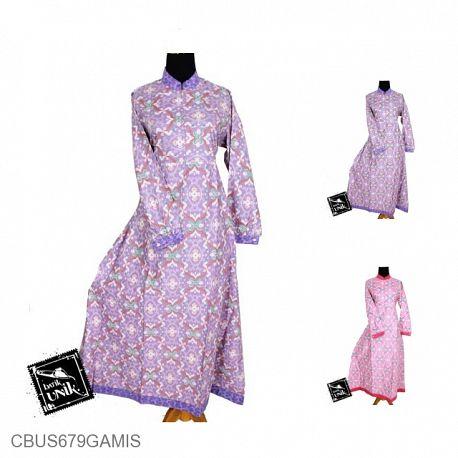 Baju Batik Sarimbit Gamis Syaqila Motif Wajik Tetris