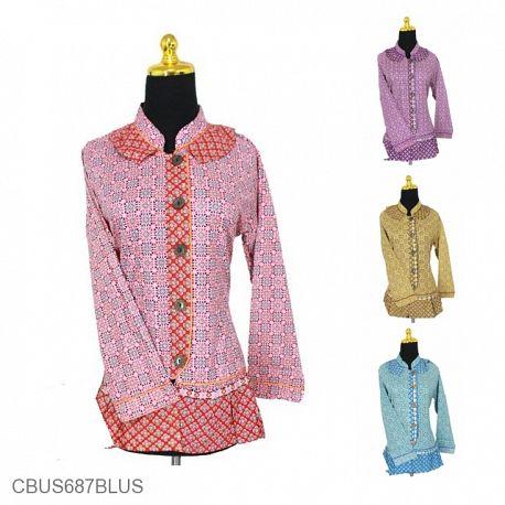 Baju Batik Sarimbit Blus Motif Cepkol Baris