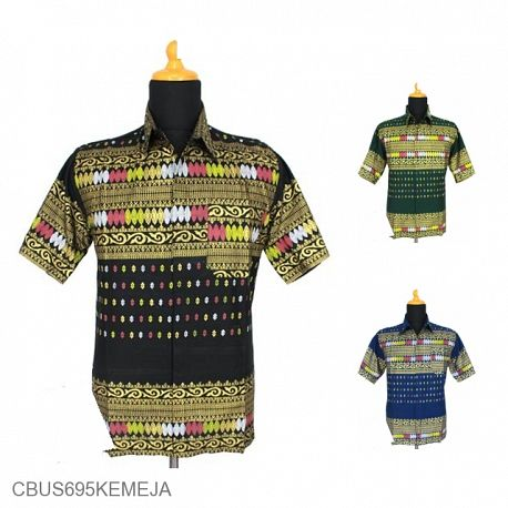 Baju Batik Sarimbit Kemeja Family Motif Songket Tumpal