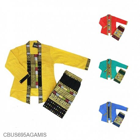 Baju Batik Sarimbit Setelan Anak Family Motif Songket Tumpal