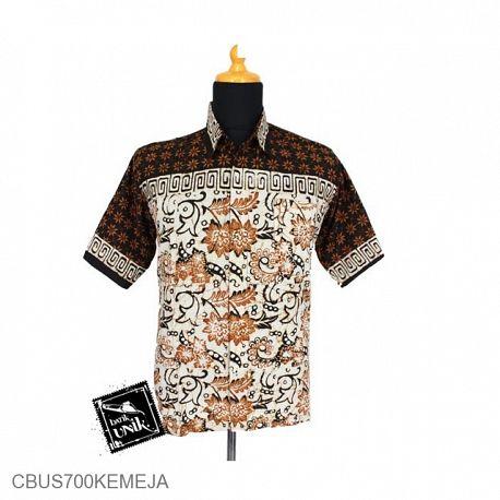 Baju Batik Sarimbit Kemeja Katun Motif Kembang Mekar