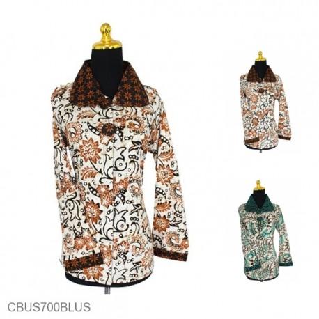 Baju Batik Sarimbit Blus Katun Motif Kembang Mekar