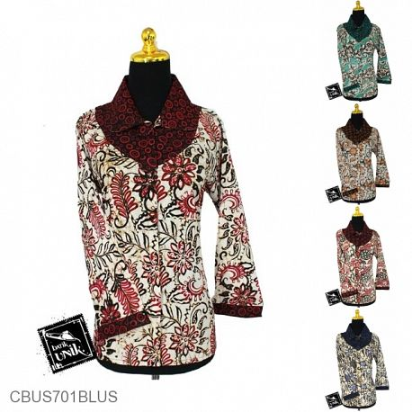 Baju Batik Sarimbit Blus Motif Bunga Truntum