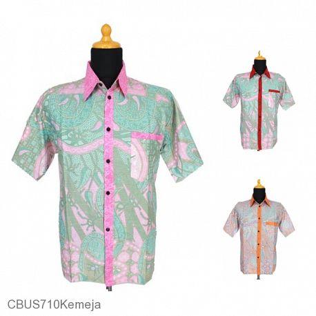 Baju Batik Sarimbit Kemeja Motif Bunga Salur