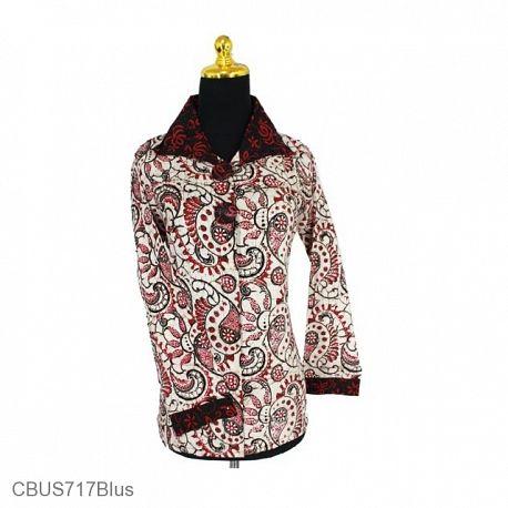 Baju Batik Sarimbit Blus Motif Bunga