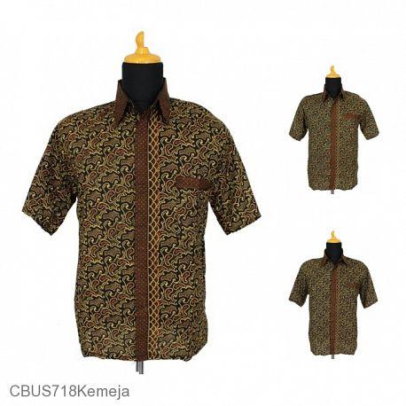 Baju Batik Sarimbit Kemeja Motif Capocino Tumpal