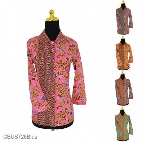 Baju Batik Sarimbit Blus Motif Abstrak